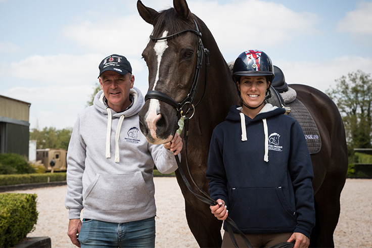 Alan Davies is a BGA member with Charlotte Dujardin