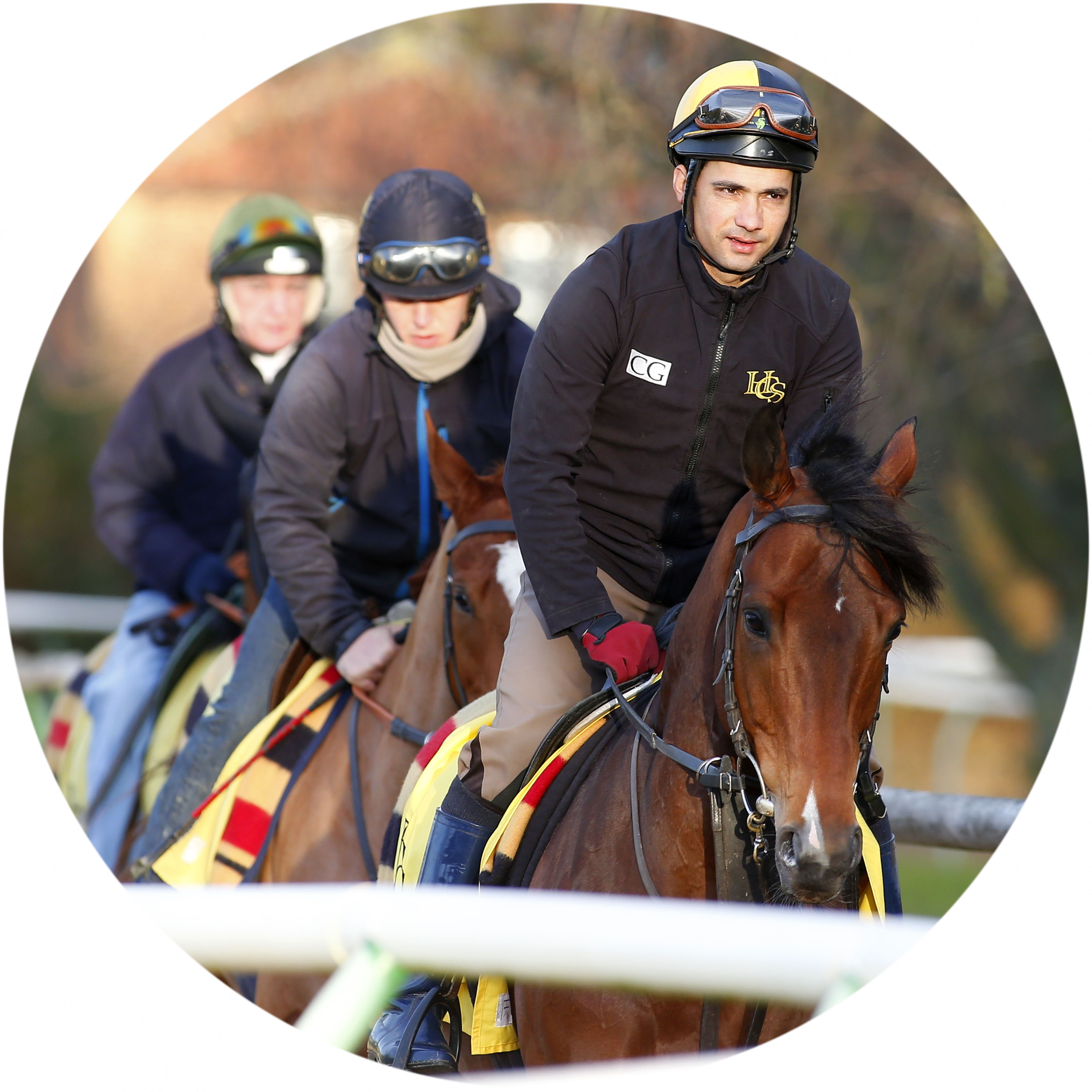 Racing grooms with British Grooms Association