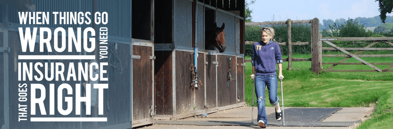 Injured groom benefits from Insurance from British Grooms Association