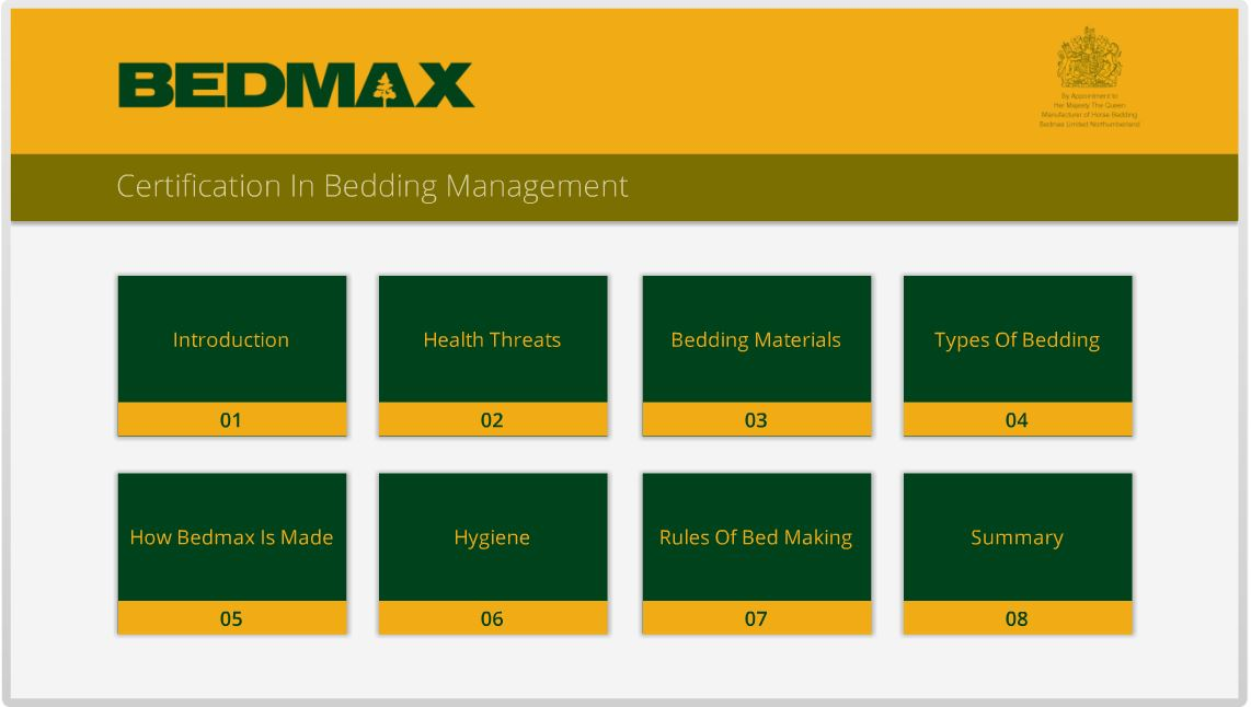 Bedmax Certificate In Bedding Management Stable Hygiene Bga